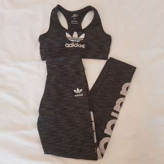 Adidas sports bra & stretched sports pants (SIZE S)