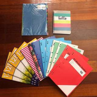 NEW Exercise Books Pack x14 + 20 Cardboard Tab Dividers