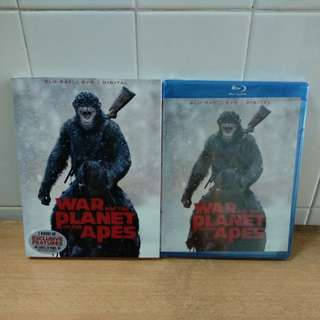 War for the Planet of the Apes - Blu-ray & DVD in slipcase - US import (original)