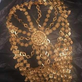 Arabian Bellydance Headdress Crown Jewellery