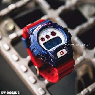 Montres Company香港註冊公司(25年老店) CASIO g-shock DW-6900 DW-6900AC DW-6900AC-2 有現貨 DW6900 DW6900AC DW6900AC2