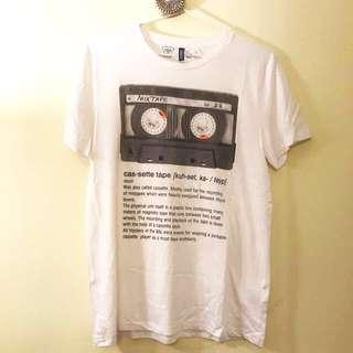 Cassette tape music dictionary tshirt