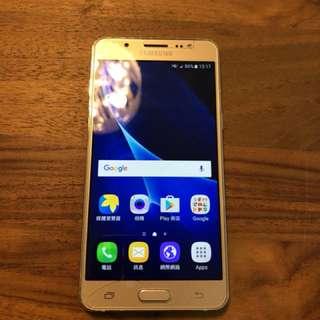 Samsung j5 2016 4g lte 16g 金色 保固內 99% new