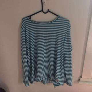 HUFFER LONG SLEEVE STRIPEY TOP