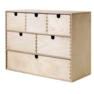 IKEA Moppe lemari laci mini box birch kayu