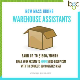 Full-Time Warehouse Assistants for Global Logistics MNC