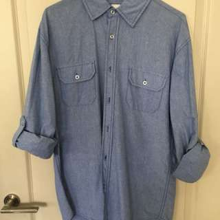 Casual Blue Shirt Size S