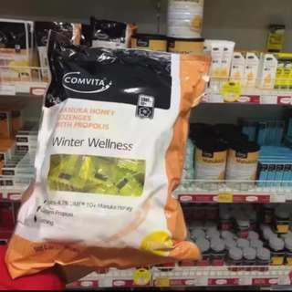全新 新貨 新西蘭 comvita 康維他 10+ umf 蜂胶 潤喉糖 500g 大包裝 澳洲直送 麥盧卡 蜂蜜糖 檸檬味