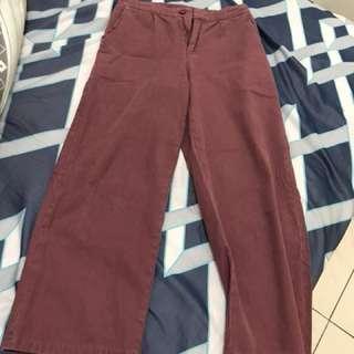 粉紫色寬褲