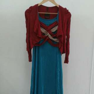 Dress with mini cardigan