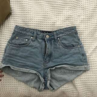 Size 8 denim shorts