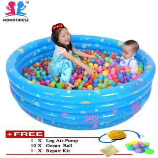 (L) 100 x (H) 31cm Inflatable 3 Rings Swimming Pool Package