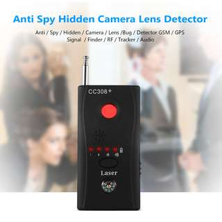GAD0301BK - (NEWEST) Hidden Camera GSM Audio Bug Finder GPS Signal Lens RF Tracker Anti Spy Detector