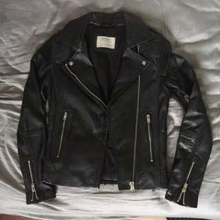 *PRICE DROP*Zara real leather jacket with side zips