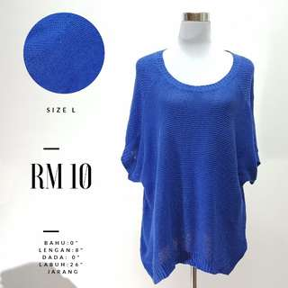 Blue Top Knitted