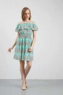 Innara Ruffle Dress Green
