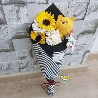 ($26)Sunflower Bouquet with Winnie the Phoo
