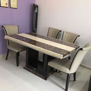 Marble Dining Table Chairs not INCLUDED.