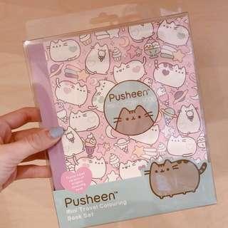 NEW// Xmas gift Pusheen Coloring book set