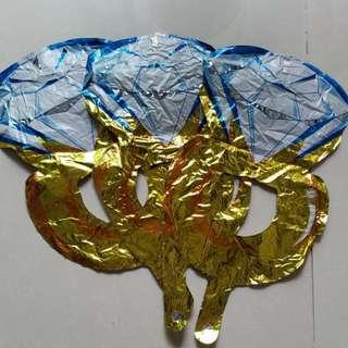 鑽石鋁氣球3個
