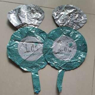 淡綠色 I do鋁氣球2個