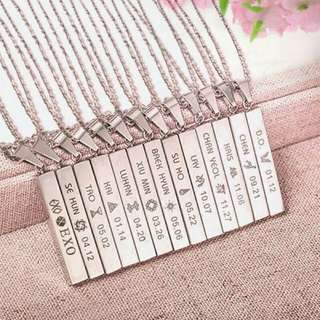 EXO Long Steel Chain Necklace