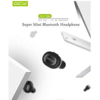 QCY Q26 防水迷你無線藍牙單耳機(黑/白)