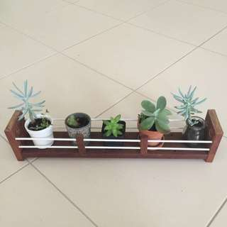 Hand Made Wooden Rack For Plants
