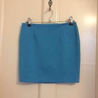 Teal Mini Skirt