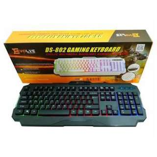 BRAND new EVOLVE DS-802 gaming keyboard