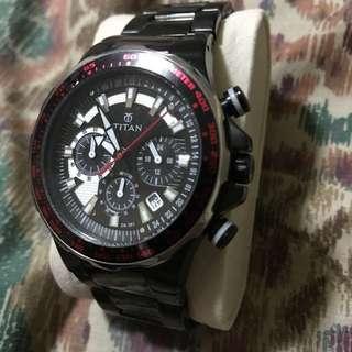 Titan watch w/ tachymeter