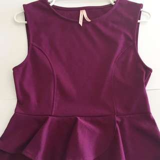 New Without Tags Ally Fashion purple peplum top