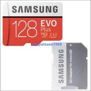 Samsung EVO Plus Micro SD SDXC 記憶卡 128G 128GB 100MB/s Class 10 UHS U3