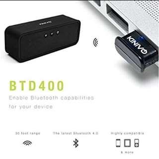 Kinivo BTD-400 Bluetooth 4.0 Low Energy USB adapter - For Windows 10 / 8.1 /  8 / Windows 7 / Vista