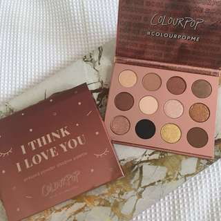 Colourpop eyeshadow palette ( I think I love you)
