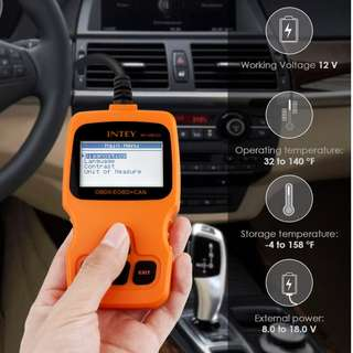 INTEY OBDII Car Vehicle Fault Code Reader Auto Diagnostic Scan Tool, Read and Clear Error Codes for 2000 or later US, European and Asian OBD2