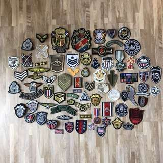 Military Styled Cloth Patches bundle (sewn/iron on)