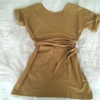 Zara yeezy inspired t shirt nude cotton Summer dress