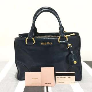Miu Miu Vitello Shine Denim Bag - RN1128