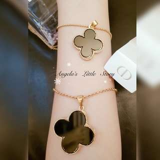 🍀Lucky Four Leaf Clover 2in1 Long Necklace🍀
