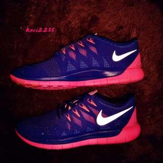 🚚 (近全新,免運) 正品 Nike 慢跑鞋 運動鞋 - US8 39(25cm)藍+桃