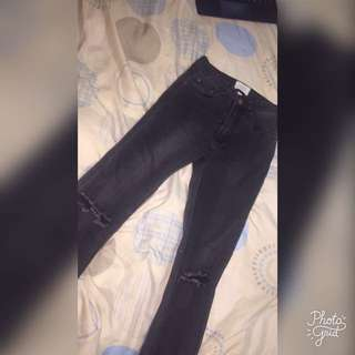 Restressed jeans