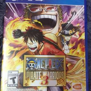 Ps4 game - One piece pirate warriors 3 PS4