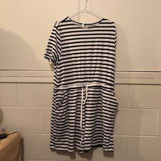 ASOS Brand Striped Playsuit *BRAND NEW*