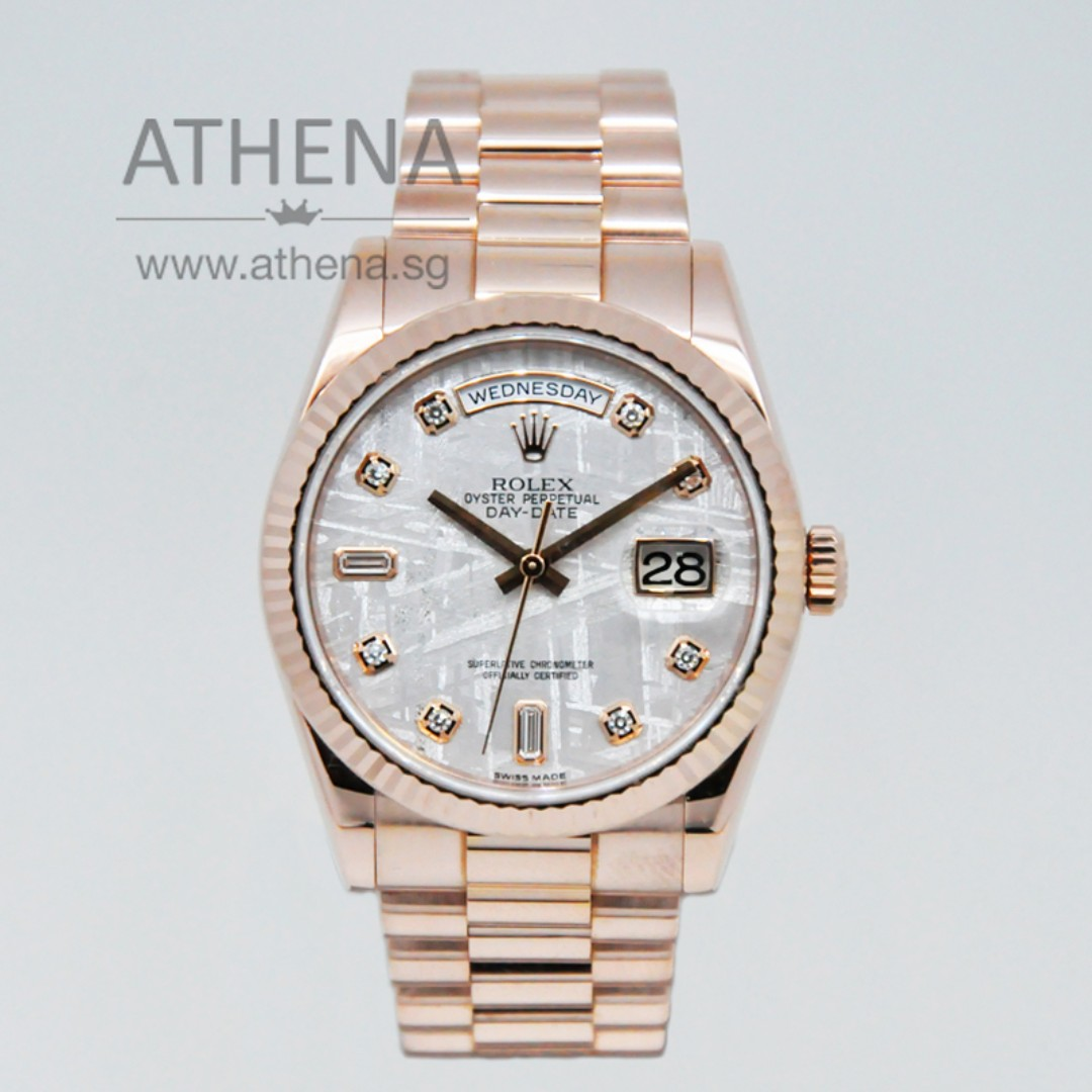 15cfe5db93d 18K ROSE GOLD ROLEX OYSTER PERPETUAL DAY-DATE