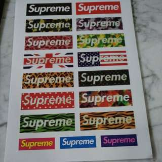 17 supreme stickers luggage decals and tag