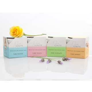 4 x MASSAGE CANDLES - PREMIUM GRADE INGREDIENTS (100% NATURAL) AfterPay Available