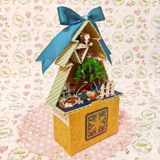 🚚 手工✨聖誕樹造型卡片禮物盒