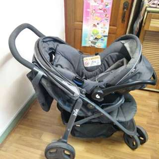 Joie litetrax 3 with Gemm baby carrier (with isofix)