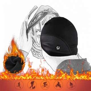 🚚 (全新) CHEJI 安全帽內襯帽 登山 單車 腳踏車 頭套 保暖抓絨 防水防風護耳